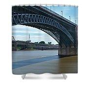 The Eads Bridge Shower Curtain