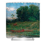 The Farm Landing Shower Curtain