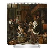 The Feast Of St. Nicholas Shower Curtain