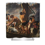 The Ferry Boat To Antwerp Shower Curtain