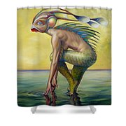 The Finandromorph Shower Curtain