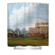 The Finish Of The St. Leger Stakes Shower Curtain