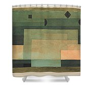The Firmament Above The Temple Shower Curtain