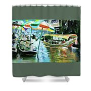 The Floating Market Shower Curtain