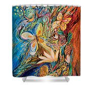 The Flowers And The Fruits Shower Curtain