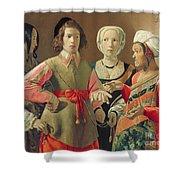 The Fortune Teller Shower Curtain by Georges de la Tour