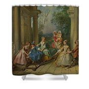 The Four Ages Of Man   Childhood Shower Curtain