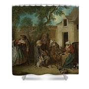 The Four Ages Of Man   Old Age Shower Curtain