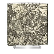 The Four Horsemen Shower Curtain