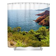 The French Riviera  Shower Curtain