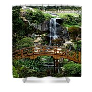 The Garden Bridge Shower Curtain