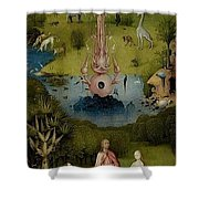 The Garden Of Earthly Delights Left Wing - Paradise Hieronymus Bosch Shower Curtain