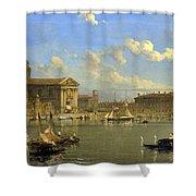 The Giudecca. Venice  Shower Curtain