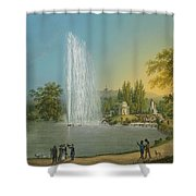 The Great Fountain Shower Curtain
