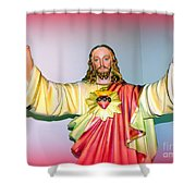 The Hands Of Christ Shower Curtain