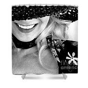 The Hat Bw Shower Curtain