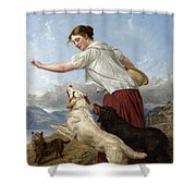 The Highland Lassie Shower Curtain