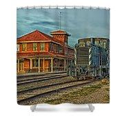 The Historic Santa Fe Railroad Station Shower Curtain