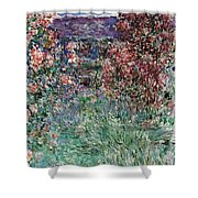 The House Among The Roses Shower Curtain