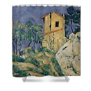 The House With The Cracked Walls Shower Curtain