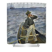 The Inshore Channel Shower Curtain