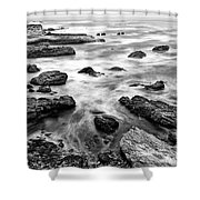 The Jagged Rocks And Cliffs Of Montana De Oro State Park Shower Curtain