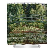 The Japanese Footbridge And The Water Lily Pool Giverny Shower Curtain