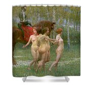 The Knights Dream Shower Curtain by Richard Mauch