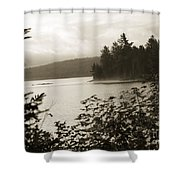 The Lake Of Two Rivers At Dawn Shower Curtain