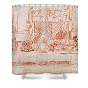 The Last Supper, After Leonardo Da Vinci Shower Curtain