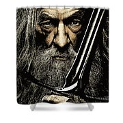 The Leader Of Mankind  - Gandalf / Ian Mckellen Shower Curtain