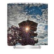 The Light Through The Pagoda Shower Curtain