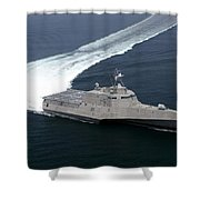 The Littoral Combat Ship Independence Shower Curtain
