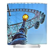 The London Eye And Street Lamp Shower Curtain