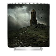 The Lost Tower Shower Curtain