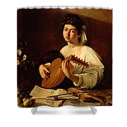 The Lute-player Shower Curtain