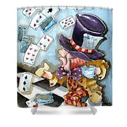 The Mad Hatter Shower Curtain