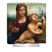 The Madonna Of The Yarnwinder Shower Curtain