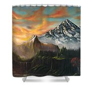The Majestic Mountain Shower Curtain