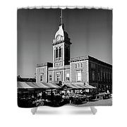 The Market Hall, Market Square, Chesterfield Town, Derbyshire Shower Curtain
