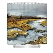 The Marsh Shower Curtain
