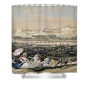 The Meadow Of San Isidro Shower Curtain