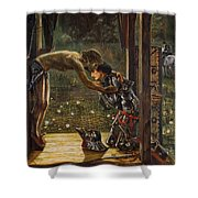 The Merciful Knight Shower Curtain