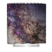 The Milky Way Around The Small Shower Curtain
