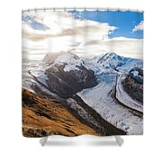 The Monte Rosa Massif In Switzerland Shower Curtain