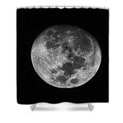 The Moon -  Shower Curtain