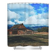The Moulton Barn Shower Curtain