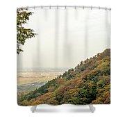 The Mountain View At The Yoro Waterfall In Gifu, Japan, November Shower Curtain