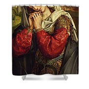 The Mourning Mary Magdalene Shower Curtain