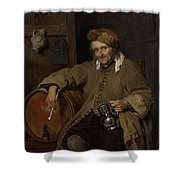 The Old Drinker Shower Curtain